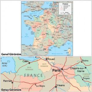 Fransa-Haritası-baskısı