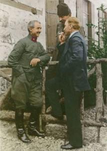 4 Haziran 1921 Mustafa Kemal, İsmet Paşa ve Süvari Tümen Komutanı Bnb. İbrahim Çolak, Çankaya'da