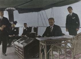 1 Temmuz 1927 Gazi Mustafa Kemal, Ertuğrul yatında dinlenirken