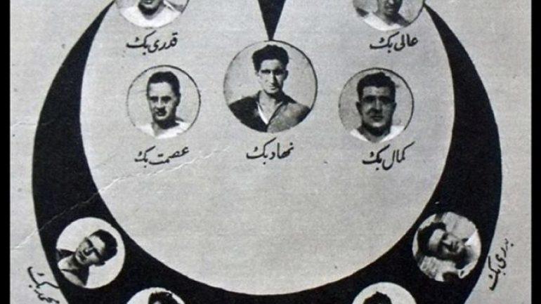 Milli Takımın 1925 yılında en çok satılan kartpostalı.