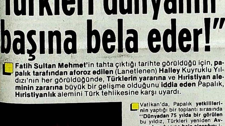 Halley Kuyruklu Yıldızı ve Fatih Sultan Mehmet