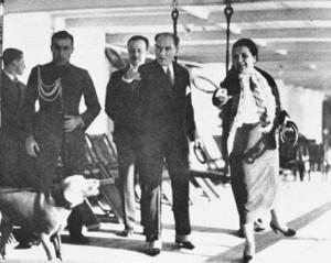 28 Kasım 1930 Cumhurbaşkanı Gazi Mustafa Kemal, Ege Vapuru ile Trabzon'a giderken